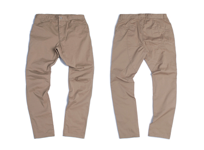 [토엘]DIAGONAL LONG PANTS - BG